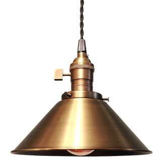 Antique Brass Loft  Ceiling Pendant