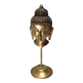 Vintage Brass Buddha Face