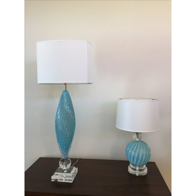 Murano Glass Table Lamps - Image 2 of 10