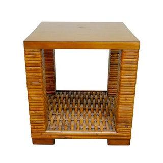 Palecek Organic Bamboo Two Tier Side Table