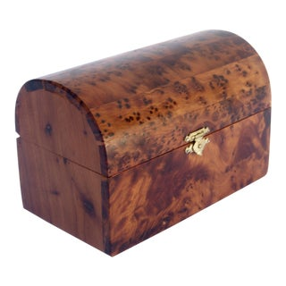 Moroccan Decorative Juniper Burl Wood Box