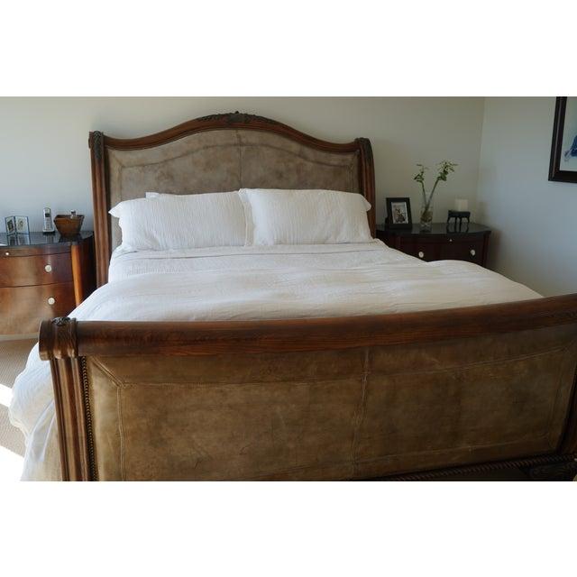 Henredon California King Sleigh Bed Frame - Image 4 of 10