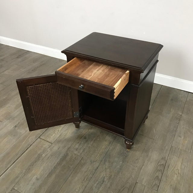 Image of Cane-Lined Traditional Nightstand