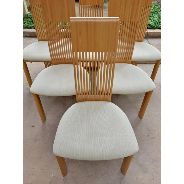Costantini Maple Slatted Dining Chairs - Set of 6 - Image 4 of 10