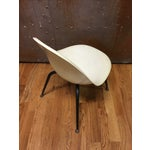Image of Vintage Retro White Fiberglass Egg Chair