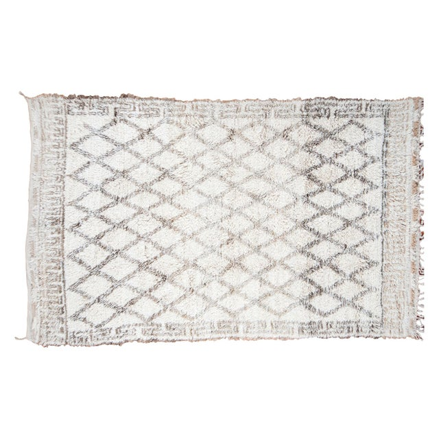 "Vintage Moroccan Carpet - 6'4"" x 10' - Image 1 of 6"