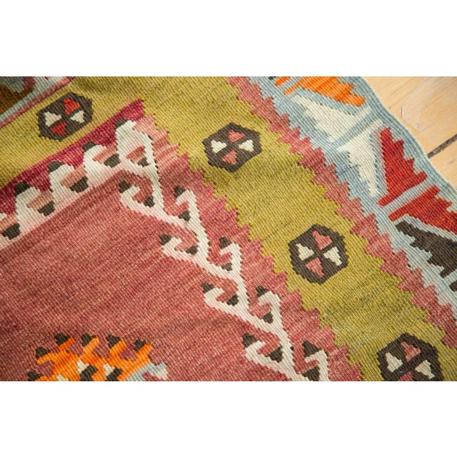 "Lime Green Vintage Kilim Rug - 2'6"" X 4'3"" - Image 6 of 6"