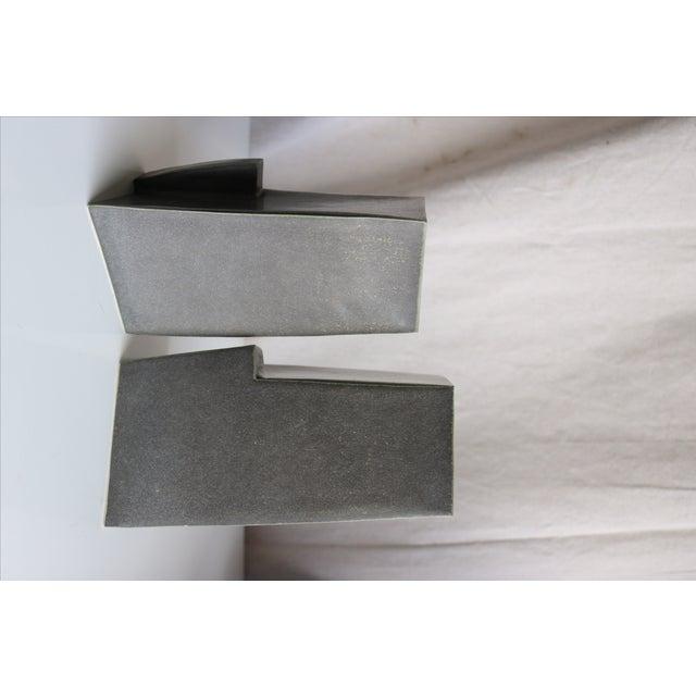 Image of Architectural Ceramic Vases - A Pair