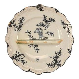 Circa 1880 Emile Galle Asparagus Plate