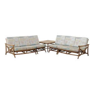 Mid Century Ficks Reed Rattan Tiki Sofa Set - Set of 5