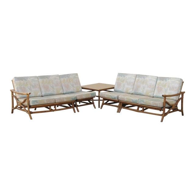 Mid Century Ficks Reed Rattan Tiki Sofa Set - Set of 5 - Image 1 of 11