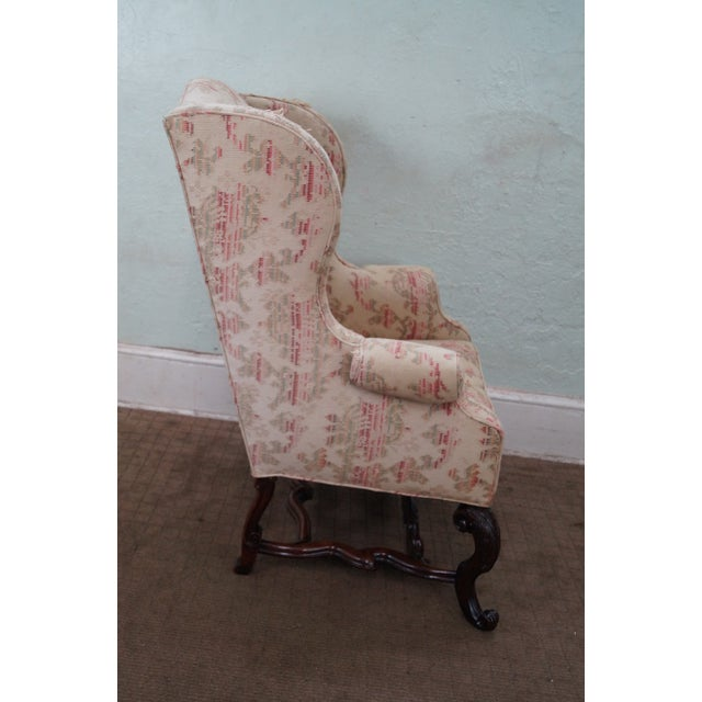 Spanish Renaissance Style Wing Chair - Image 3 of 7
