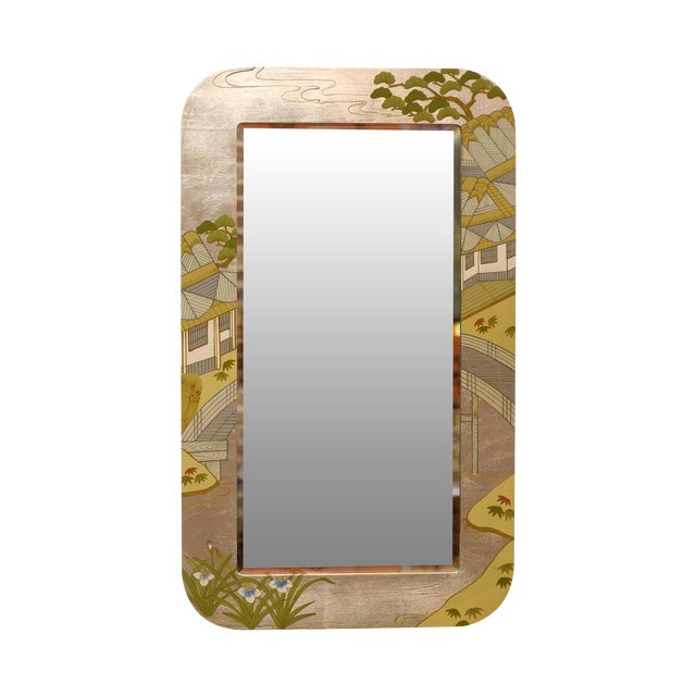 Regency Painted Silver Chinoiserie Mirror - Image 1 of 8