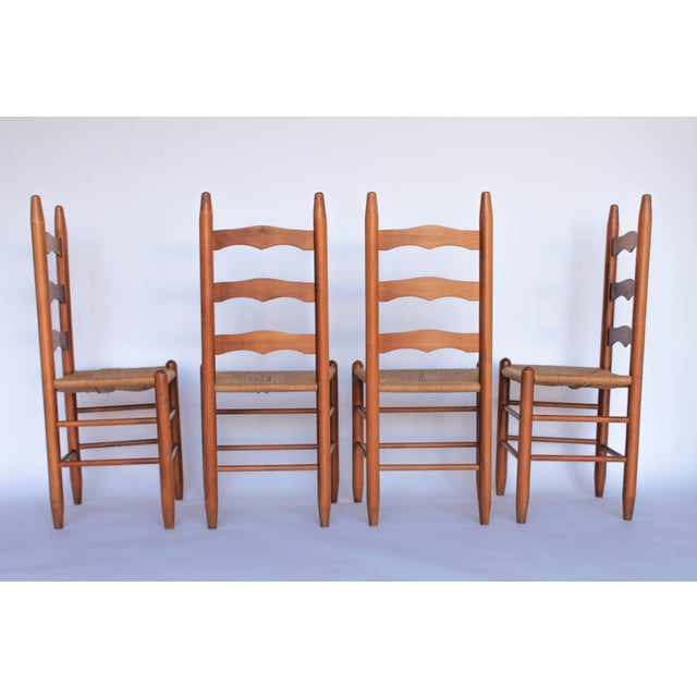 Ladder Back Dining Chairs - Set of 4 - Image 3 of 6