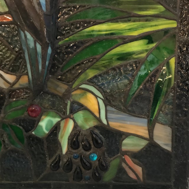 Tiffany Style Stained Glass Plaque - Image 5 of 7