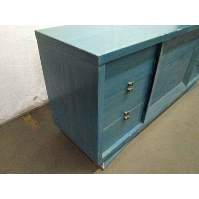 Mid-Century Blue Finish Wooden Dresser - Image 3 of 7