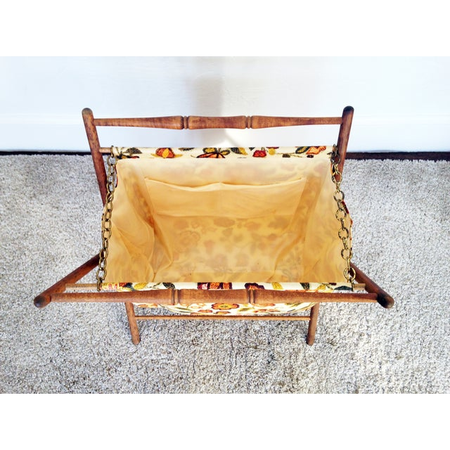 Vintage Folding Sewing Basket / Hamper - Image 3 of 7