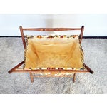 Image of Vintage Folding Sewing Basket / Hamper
