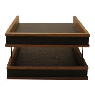 1950's Two Tiered Desk Tray