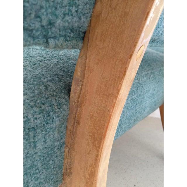 Kroehler Accent Chair Elan Key Pattern: Vintage Kroehler Teal Blue Accent Slipper Chairs
