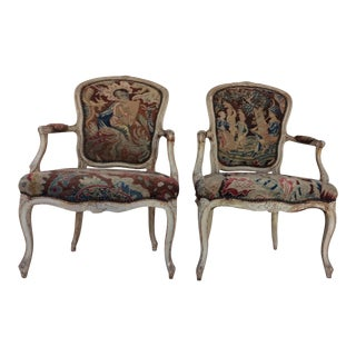 Louis XV Style Arm Chairs