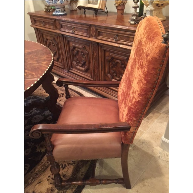 Leather Dining Room Chairs - Set of 8 - Image 4 of 4
