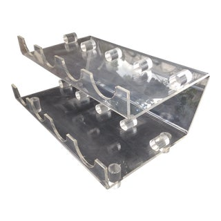 Vintage Lucite Wine Holder