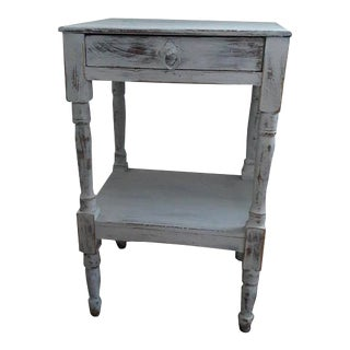 Antique Distressed Farmhouse Side Table