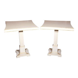 Grosfeld House Painted End Tables - A Pair