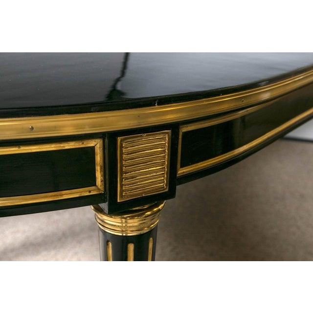 Louis XVI Style Ebonized Dining Table by Jansen - Image 3 of 8