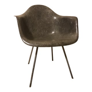 Eames Elephant Grey 1st Generation Rope Edge Chair
