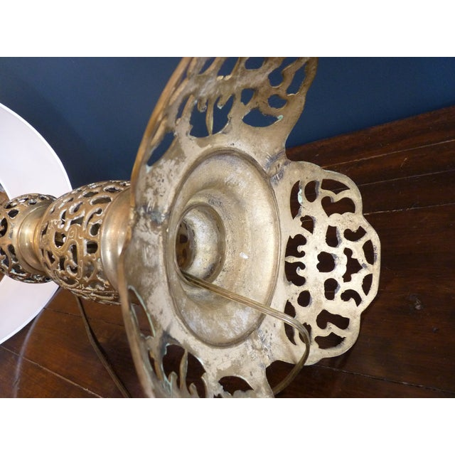 Punched Brass Column Table Lamp - Image 7 of 8
