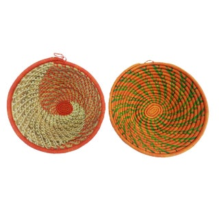 Handwoven African Burundi Baskets - A Pair