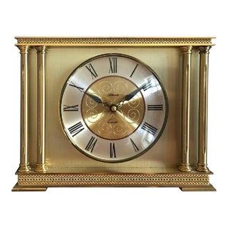 Brass Mantel Clock from Atlanta, 1979