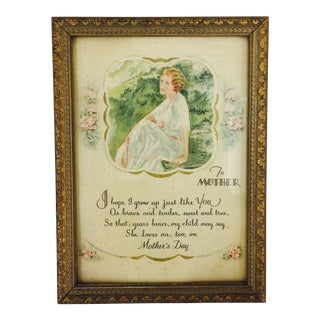 Vintage Framed Print Mothers Day Gift