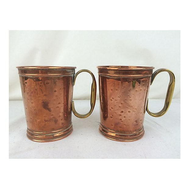 English Copper and Brass Mugs - A Pair - Image 2 of 3