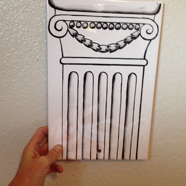 Image of Column Painted Tile Wall Sconce