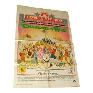 Vintage Charlotte's Web Movie Poster First Issue 1974