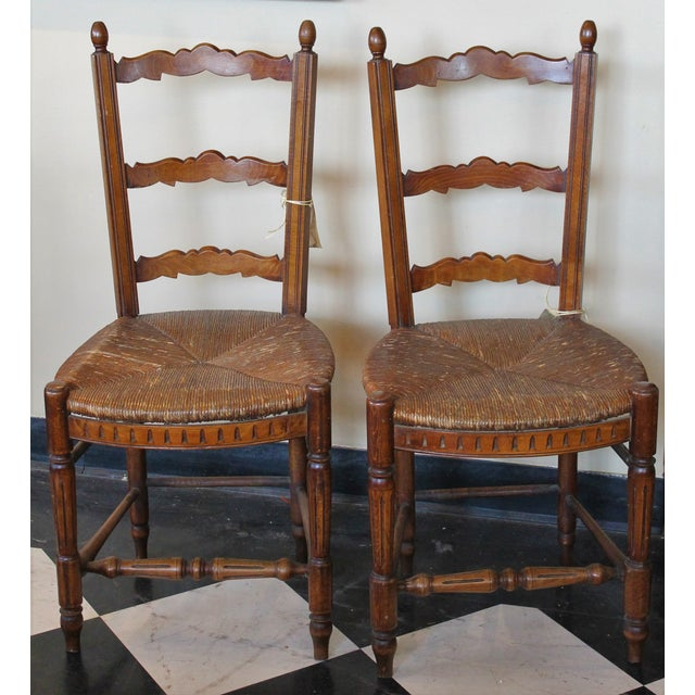 Antique Petite French Dining Chairs - A Pair - Image 2 of 4