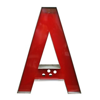 Steel Red Letter A