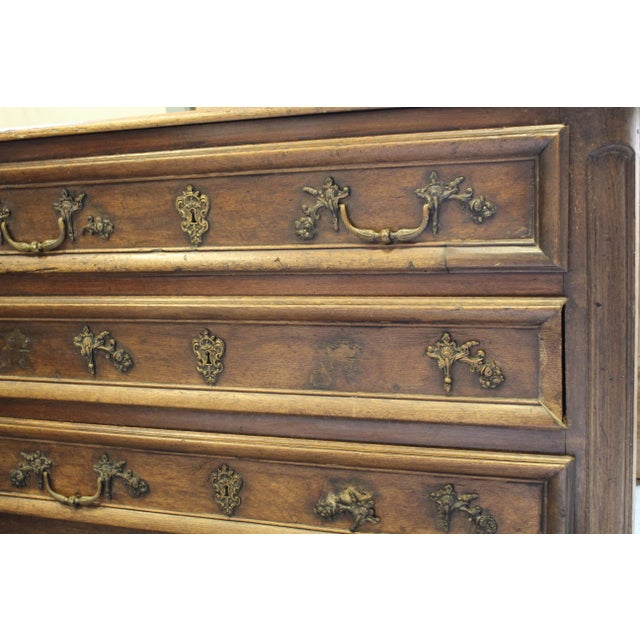 French Oak Louis XV Style Commode - Image 5 of 8