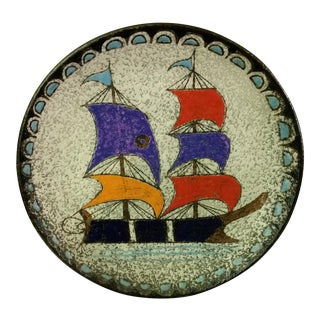 Ship at Sea Decorative Wall Plate
