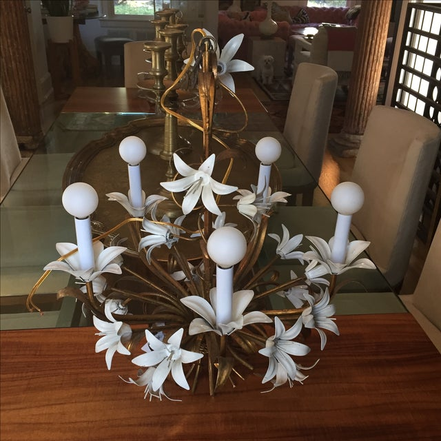 Italian Tole Chandelier - Image 3 of 4
