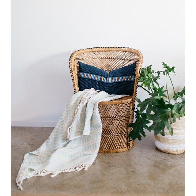 Vintage Indigo Ronda Pillow - Image 4 of 7