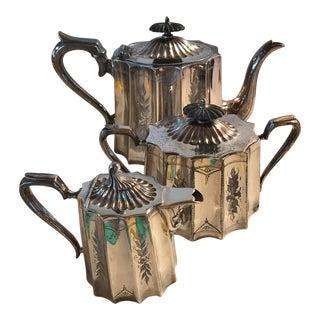 James Deakin & Son English Silver Tea Set - Set of 3