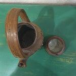 Image of Vintage Brutalist Handmade Ceramic Teapot