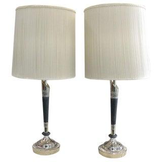 Pair of Rembrandt Column Lamps