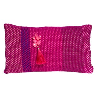 Hand-Woven Pinky Pillow