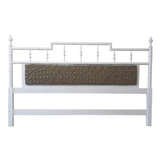 Faux Bamboo Pagoda Style Center Cushion King Size Headboard