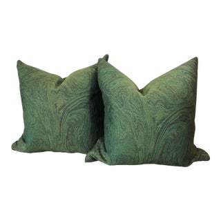 Green Lava Pillows - a Pair